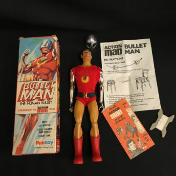ACTION MAN - BULLET MAN - VINTAGE BOXED - (ref 6/11)